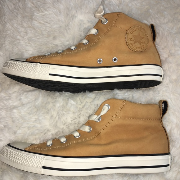 Leather Converse Chuck Taylor All Stars Tan 7.5